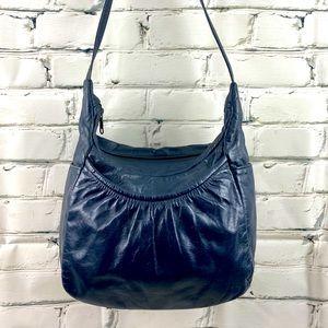 Vintage leather navy purse